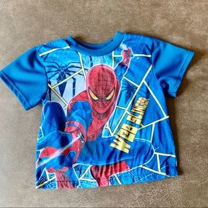 Spider-Man Blue & Red Graphic Short Sleeve Shirt 6